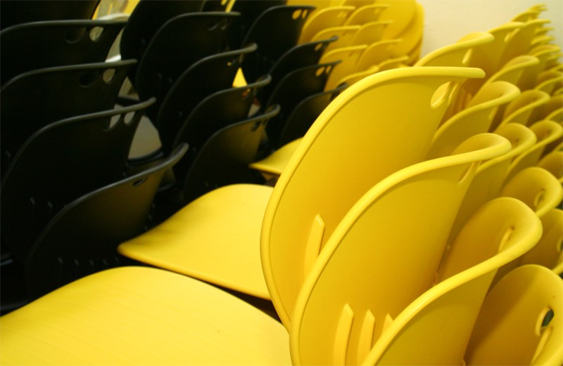 Yellow Chairs abstract