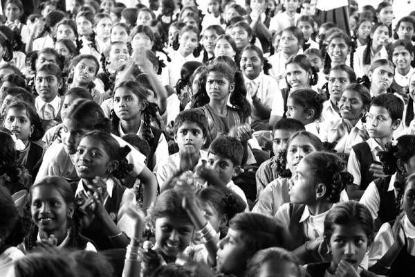 School children poor India joy happy innocent kids