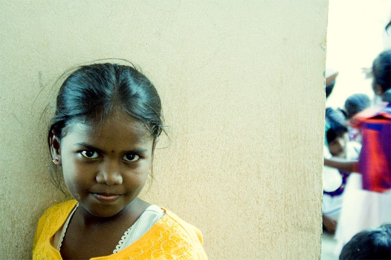 Girl at the school
