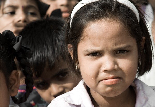 Children school india crying