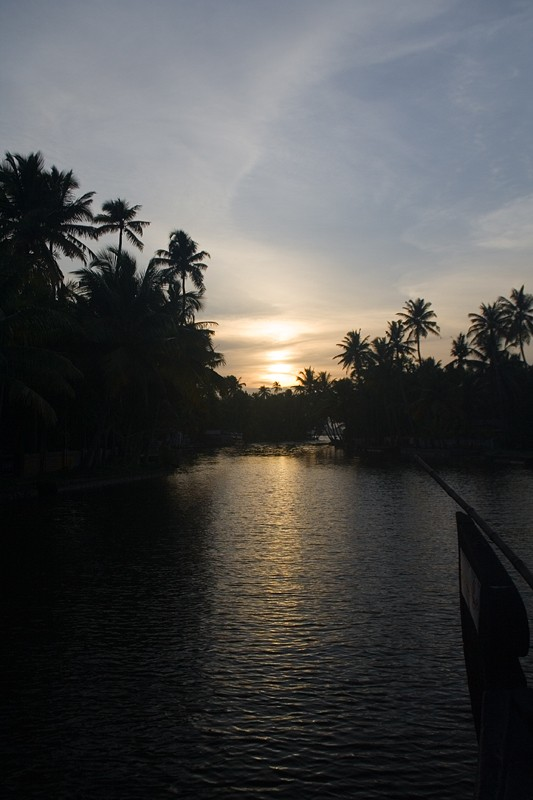 Sunset at the backwaters of Kerela.