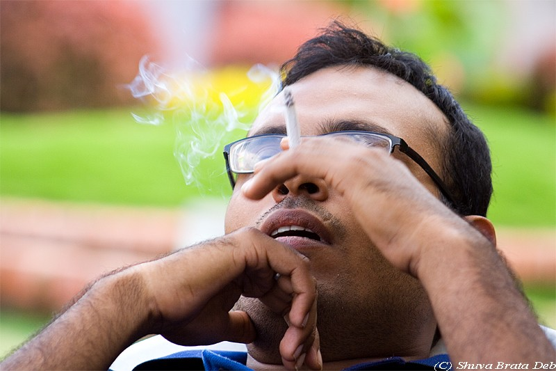 Anadi Sharma Smoking cigarette