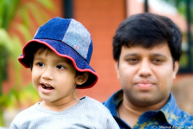 Vaishanth with Papa