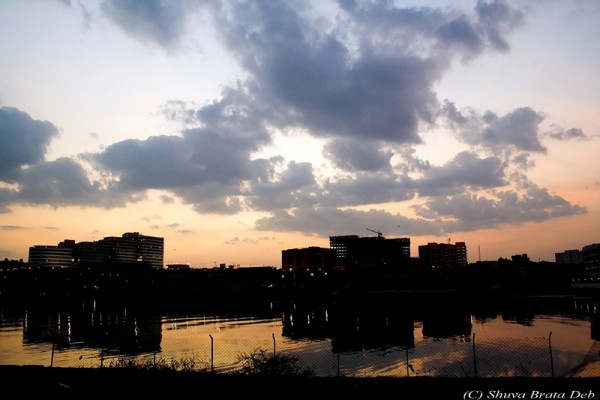 Hitec City at Dawn