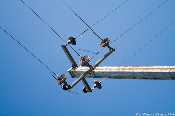 One electric pole