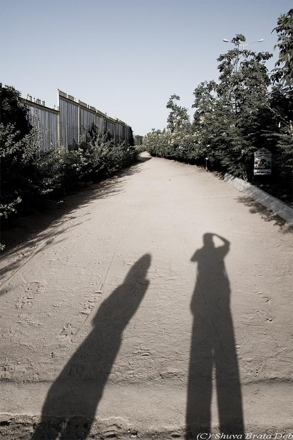 Shadows of me and Lipika