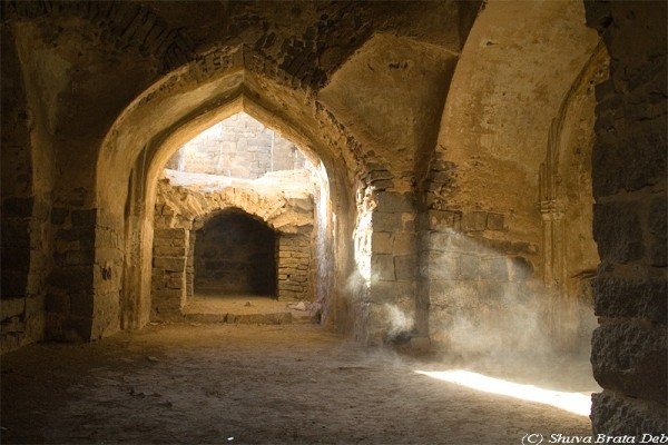Rays inside Golconda Fort.