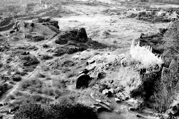 Ruins around Golconda Fort