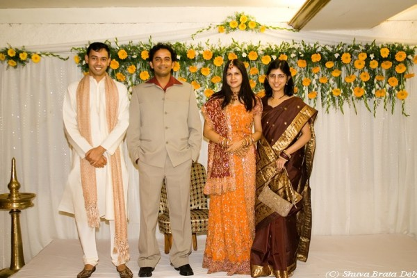 At their marriage reception