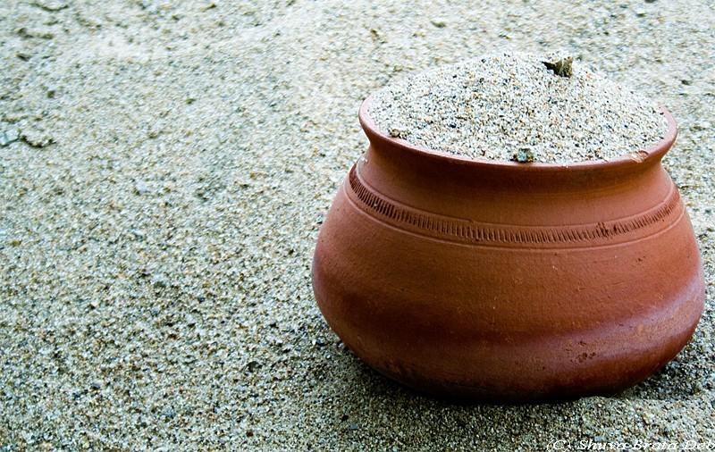Pots on Sand