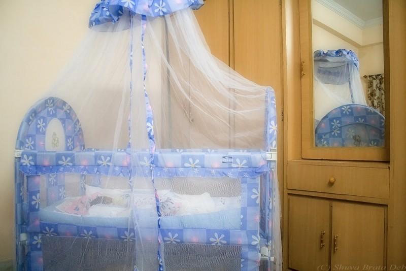 Tisha's baby cot