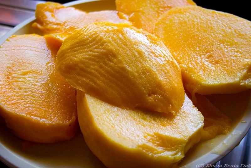 Enjoy the mangoes