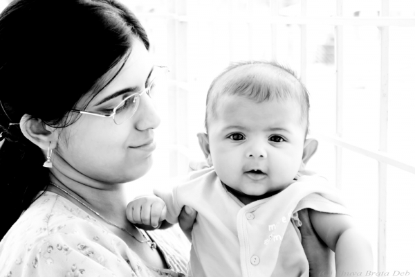 Tisha with Mummy
