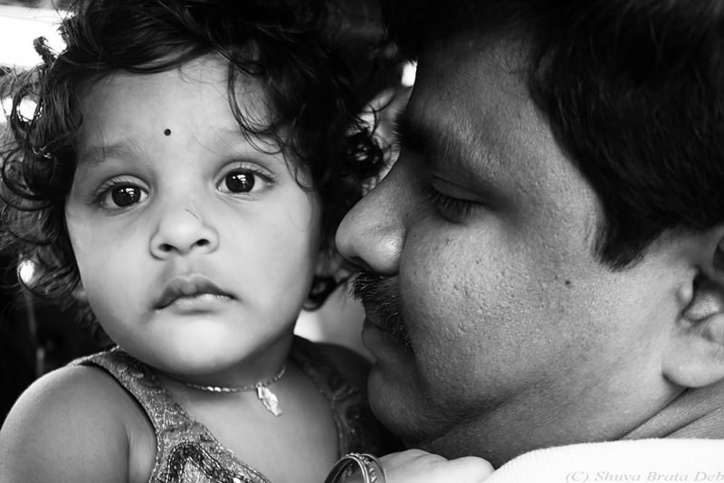My colleague Vinod with his lovely daughter