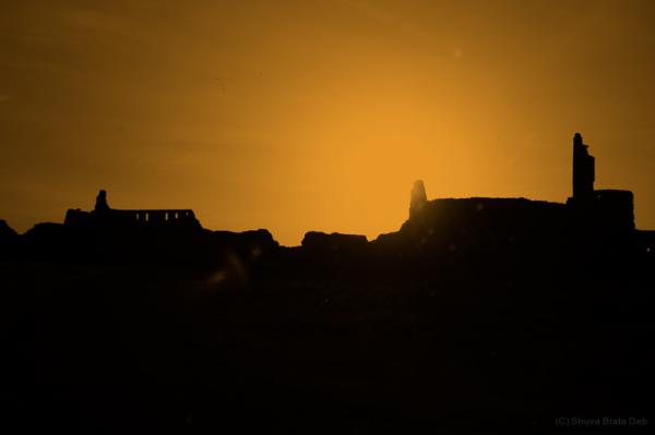 Evening at Bidar Fort.