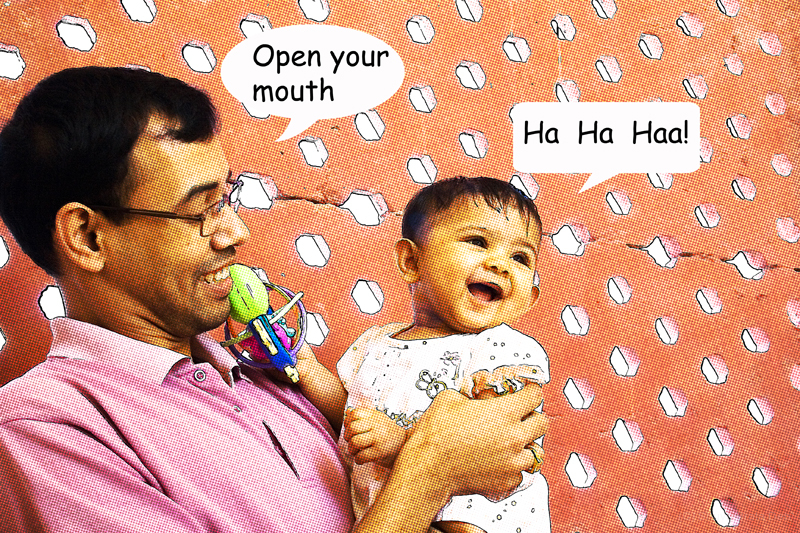 open your mouth ... ha ha haa!