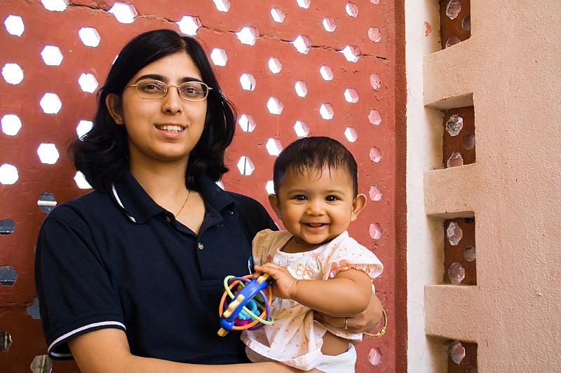 Tisha with Mummy