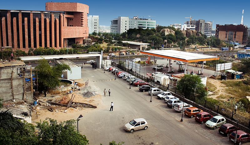 Hitec City (view from parking lot)
