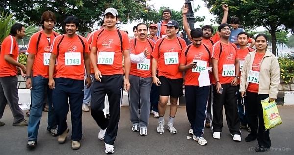 Team RSA at Hyderabad 10K run