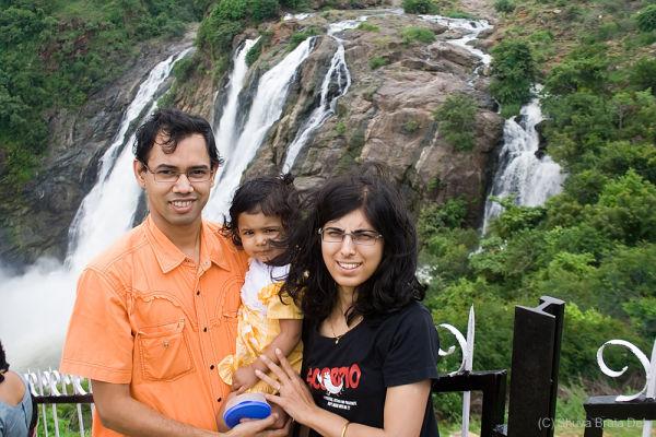 At Siva Samudram waterfall