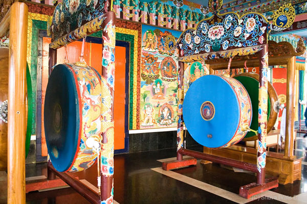 Drums inside Buddhist temple