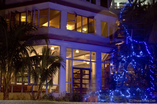 Hotel Sentinel at night