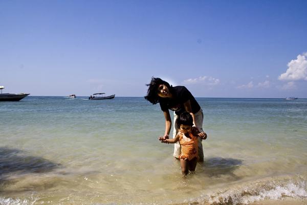Tisha and Lipika at Mouat Beach