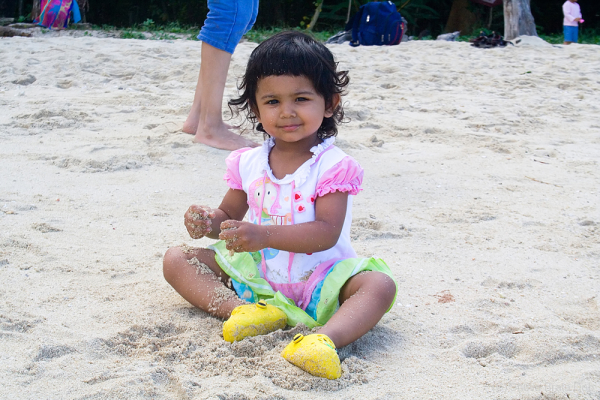 Tisha at Elephant Beach, Andamans