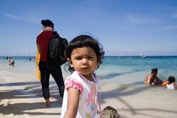 Tisha at Elephant Beach, Andamans