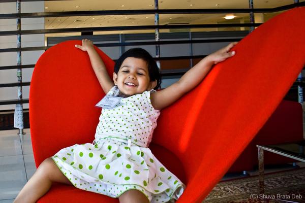 Tisha at my office (Kids @ Work @ EMC 2010)