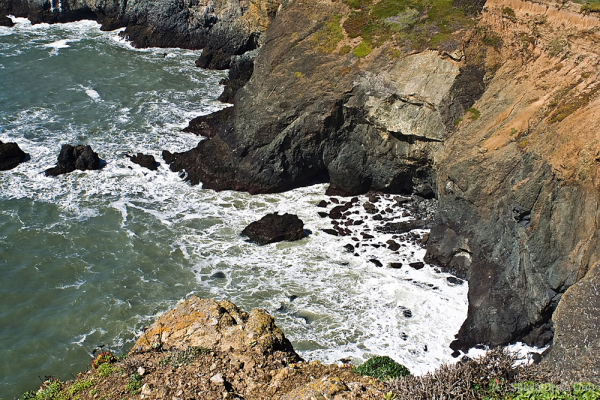 Rocky shores of Pacific Ocean
