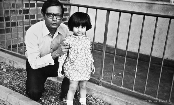 Lipika and her Dad @ ~1980