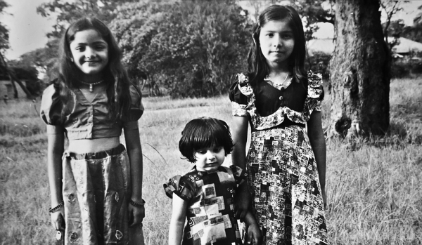 Tanuka, Lipika and a friend from right to left