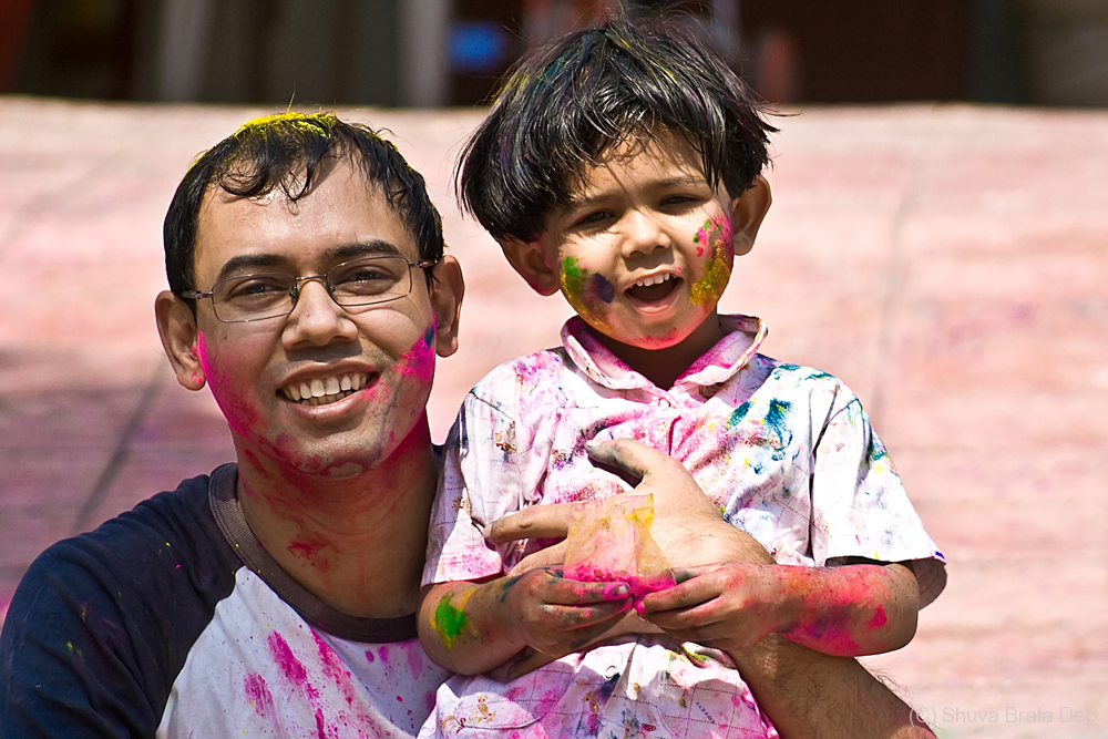 Playing Holi