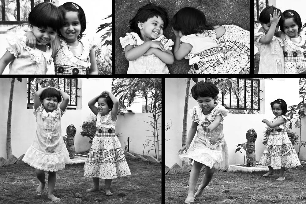Tisha and Sanvi playing