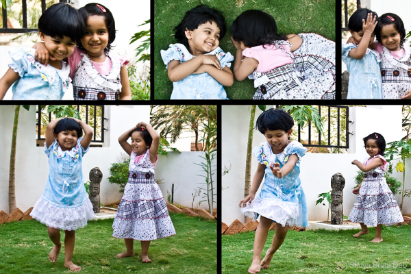 Tisha and Sanvi playing