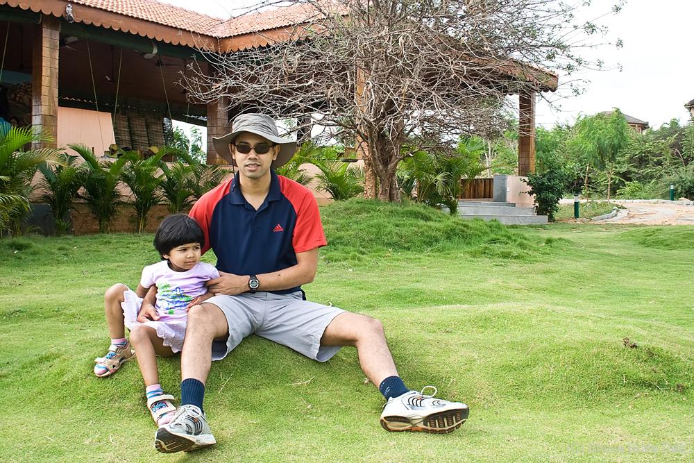 Tisha and me at Sloth Bear Jungle lodge
