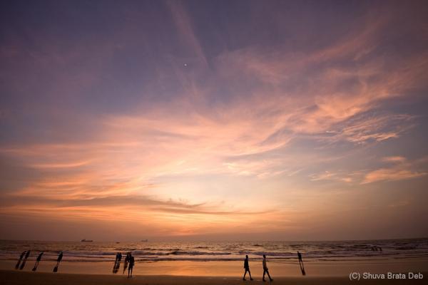 Sunset at Panambur beach