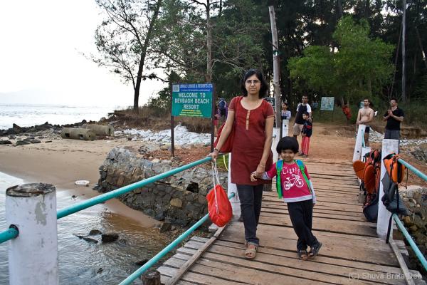 Tisha and Lipika at Karwar Beach resort