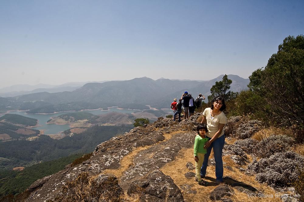 Trekking up the hill