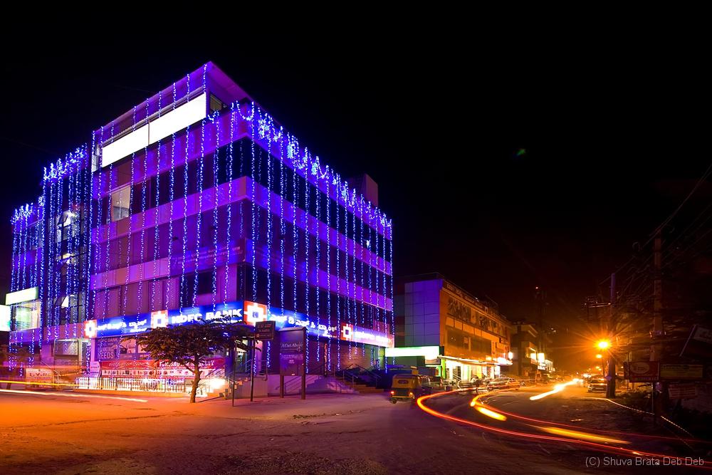 HDFC Bank, Bellandur at night