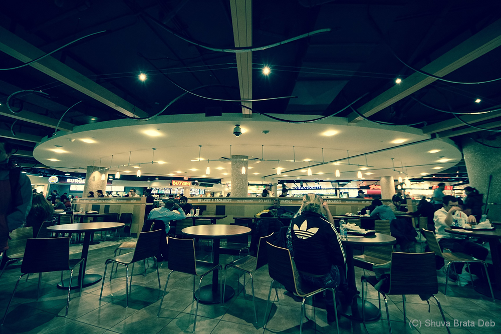 Underground food court