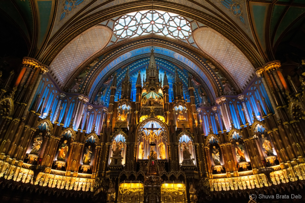 Inside the Notre Dame Basilica of Montreal