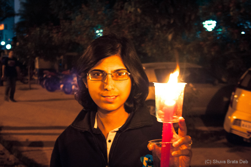 Candle light protest against child abuse 10/10