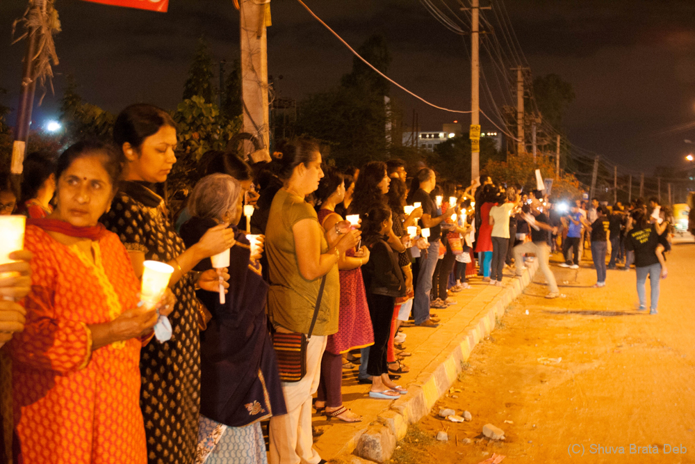 Candle light protest against child abuse 1/10
