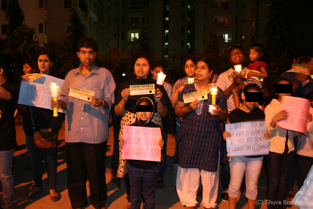 Candle light protest against child abuse 3/10