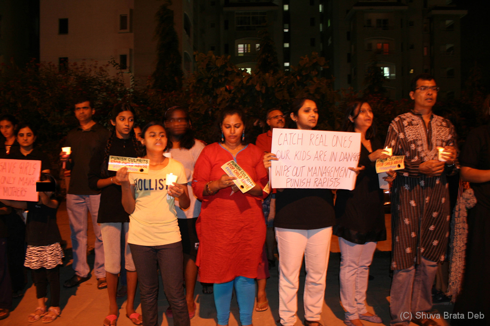 Candle light protest against child abuse 5/10