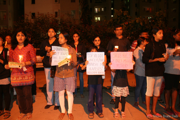 Candle light protest against child abuse 6/10