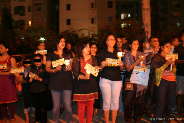Candle light protest against child abuse 9/10
