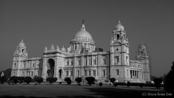 The usual view of Victoria Memorial
